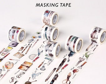 Craft masking tapes in 5 fab designs