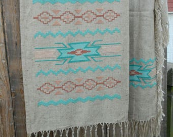 Southwestern Wall Hanging and Throw - Counted Cross Stitch, Tribal Wall hanging,Native American inspired