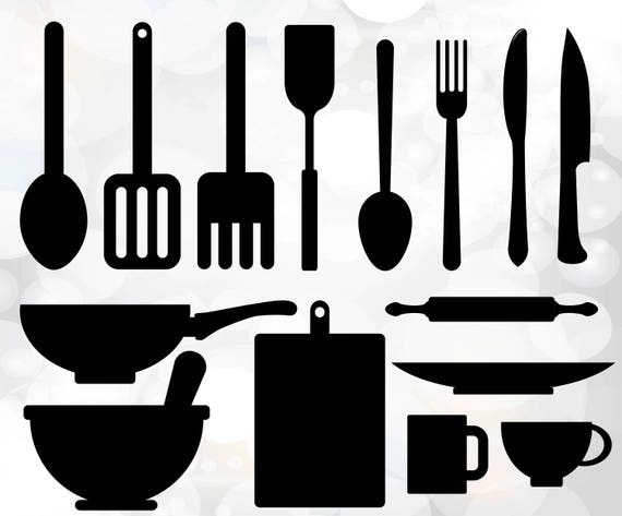 kitchen utensils svg utensils vector digital cut file