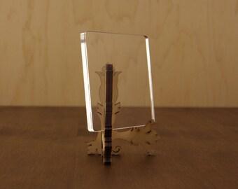 10 Acrylic Keychain Blanks, Acrylic Blanks For Vinyl, Clear Keychain Blanks, Clear Acrylic Squares, LED Acrylic Square, 6mm, 13 Sizes, NV18