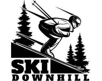 Snow Skiing Logo #2 Equipment Snowboarding Mask Skier Ski Winter Extreme Sport.SVG .EPS .PNG Clipart Vector Cricut Cut Cutting Download File