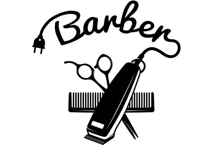 Barber Logo #4 Salon Shop Haircut Hair Cut Groom Grooming ...