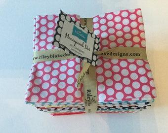 Riley Blake Design, 26 fat quarter bundle Honeycomb, dot fabric bundle, basic fabric,