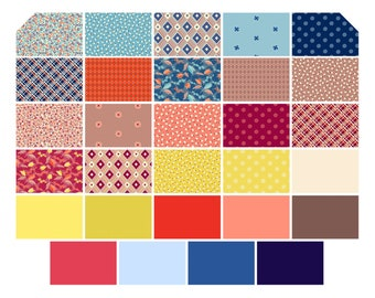 Free Spirit - 29 Fat Quarter bundle - Ludlow - Denise Schmidt - cotton fat quarter bundle from manufacturer
