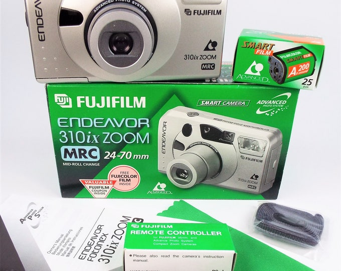 Fujifilm Endeavor 310ix Zoom APS Film Camera Outfit - Mint New in Box - Fujinon 24-70mm Zoom Lens - Fujicolor Film & Batteries Included!