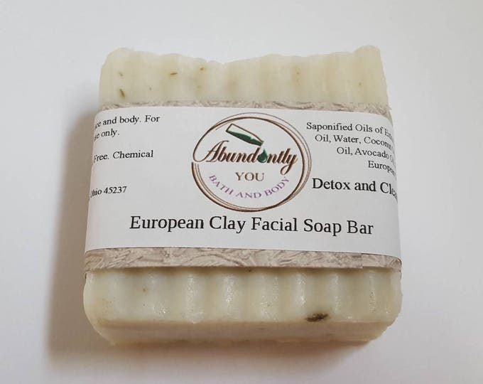European Clay Facial Soap Bar | Natural