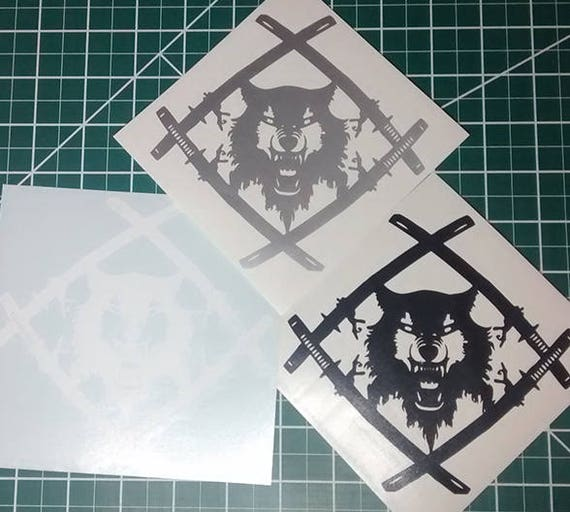Hollow Squad Xavier Wulf Vinyl Decal Sticker For Car Truck
