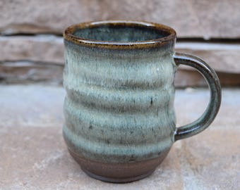 Studio Pottery Mug, Ceramic Mug, Handmade Ceramic Mug, Ceramic Coffee Cup, Coffee Mug, 16 oz