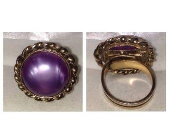 On Sale Vintage Purple Stone Ring