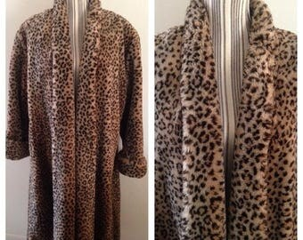 Anniversary Sale Ladies Leopard Print Coat