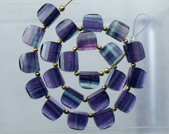 20 piece faceted fluorite beads very unique design or Fancy beads 11 -- 12 mm  approx