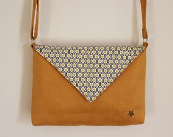 Yellow Hexagon clutch bag