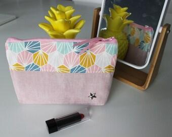 Pink Hexagon pouch