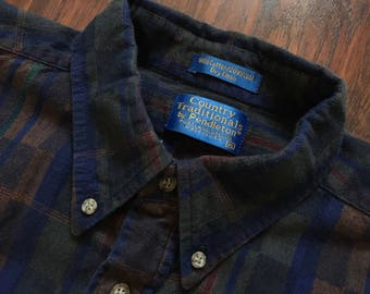 Vintage Pendleton Country Traditionals Button Front Shirt Size XL Geometric