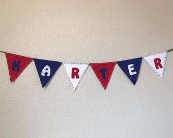 Name and Flags Banner Flag | Banner and Signs | Banner Baby Shower | Garland Nursery | Decorations Baby | Wall Hanging | Banners Birthday