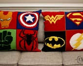 25 Superhero Logo Crochet Charts - Pattern ONLY