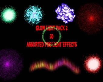 Large Glow Light Effects Pack Separate PNG Files High Resolution Instant Download.  sc 1 st  Etsy : glow lighting effect - azcodes.com