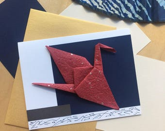 Origami Card Handmade, Origami Greeting Card
