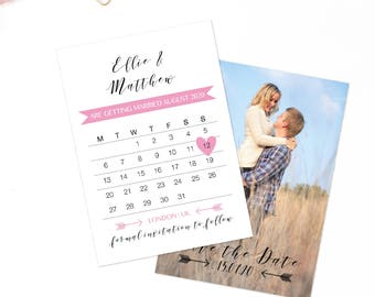 Calendar save the date cards, Photo save the date, Rustic save the date card, Wedding stationary, Save the date photo, Wedding announcements