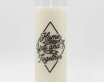 Unscented Candle - Decorative  Candle - Soy Candle