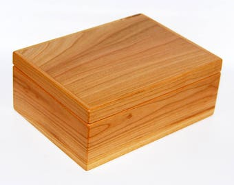 Jewelry box gift box solid cherry