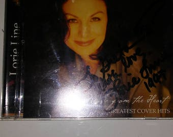 Very rare Lorie Line 1997 autographed CD case with cd