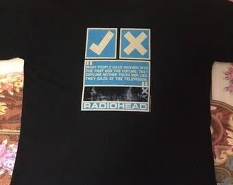 radiohead vintage t-shirt 90s