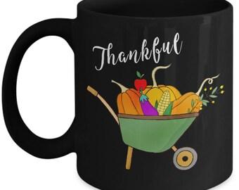 Thankful Mug, Thanksgiving Day Mug, Pumpkin Coffee Mug, Thanksgiving Coffee Mug, Thanksgiving Day Gift, Thanksgiving Mug