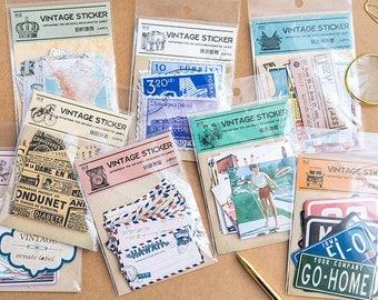 24 Pieces Vintage Lifestyle Stickers - Planner, Journal, Craft, Scrapbooking, Decoration