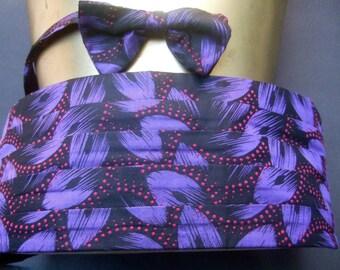 PIERRE CARDIN Men's Silk Cummerbund Set