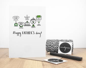 No 1 Trophy, Father's Day Card