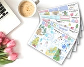 40% OFF WINTER WATERCOLOR Planner Stickers for the Erin Condren Planner/Winter Weekly Planner Sticker Kit/Sticker Set/Functional