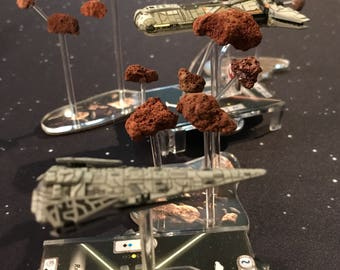 Miniature Asteroid Clusters - Designed for Star Wars: Armada