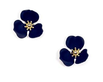 Blooming Lotus Stud Earring