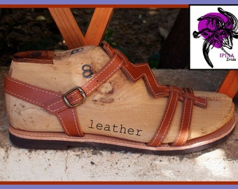 Cowhide leather sandals