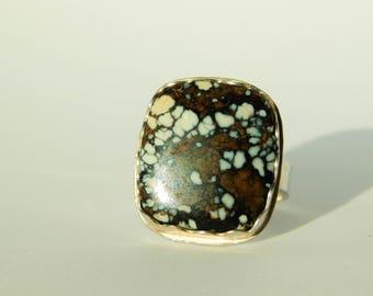 New Lander Turquoise Ring, Rare, size 7.75