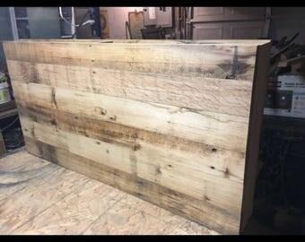 "Custom reclaimed wood desk 18"" wide x 48"" long for jadyeebug777"