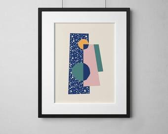 Abstract Art Print • Abstract Wall Art • Modern Wall Art • Wall Art • Wall Art Print • Dorado