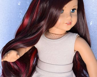 "Custom Doll Wig For 18"" Dolls American Girl Size ~ 10-11"" size ~ Heat Safe- Exquisite Doll Designs"