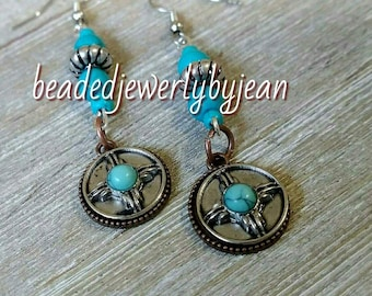 Native turquoise earrings, turquoise jewerly, turquoise, earrings,