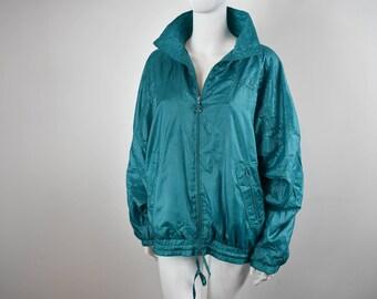 Vintage 90s Turquoise Bomber Jacket