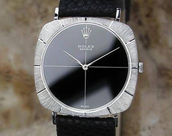 Rolex Cellini Geneve Swiss Made 18K Gold 1680824 Manual 31mm 1963 Watch GG24