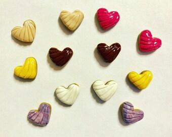 Heart Concha Stud Earrings