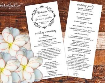 Order of Ceremony Kraft Wedding Program PDF Order of Service PDF Wedding Ceremony Program Ceremony Template Printable Program 006