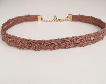 Choker/Choker necklace/Brown choker/Fashion jewelry