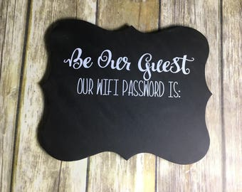Be Our Guest - Wifi Password Chalkboard Sign