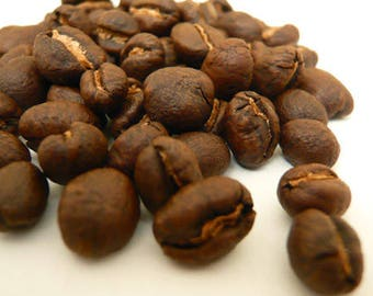 1lb Tanzanian Peaberry Whole Coffee Beans Dark Roast One Pound