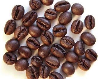 1lb Brazil Nature Friendly Natural Peaberry Mokka Whole Coffee Beans Dark Roast One Pound