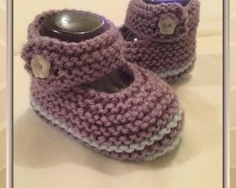 Style 3/6months woolen ballerina slippers