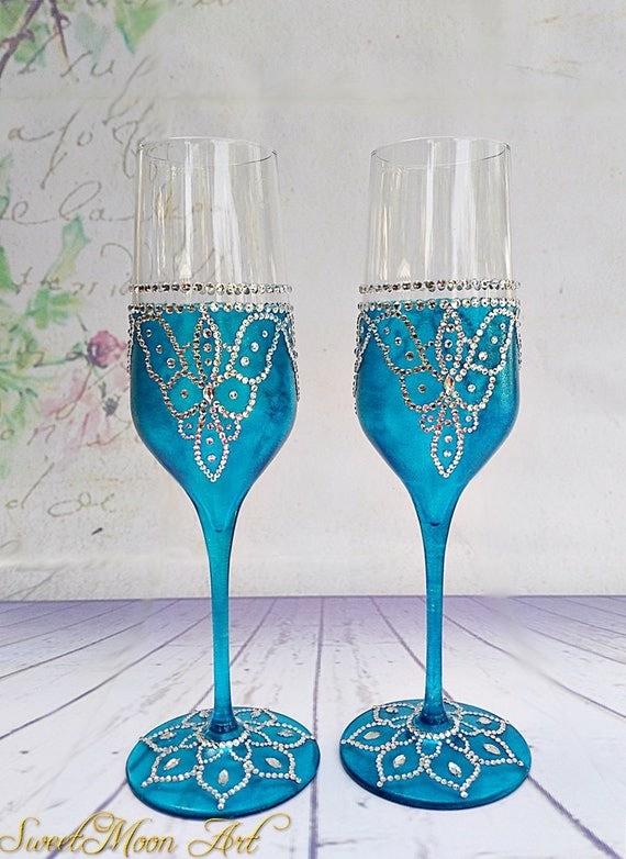 copas para boda azul copas de champagne flautas champagne. Black Bedroom Furniture Sets. Home Design Ideas